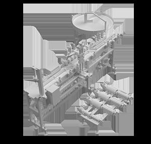 Ligne Automatique de Dosage et d'Etiquetage automatique – Modèle BR 518-515